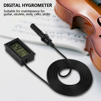 LCD Temperature Humidity Meter Hygrometer Thermometer for Violin Guitar Ukulele