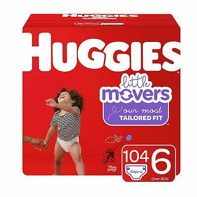 ***NEW*** Huggies Little Movers Diapers Size 6, 104 Count ***FREE SHIPPING***