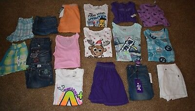 Lot Of 17 Girls Size 14/16 clothing 6 NWT 9 pcs Justice!