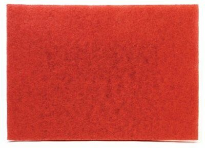 """3M Buffer Pad 5100, Red, 12"""" x 18"""" (Case of 20) / Price is for 1 Case"""