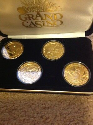 1995-1996 Grand Casino Wildlife Series II Collector Coin Set w/Display Case