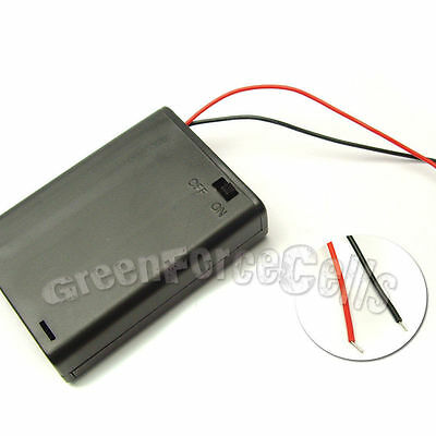 5 pcs 3 AA 14500 LR6 Cells Battery Clip Holder Box Case with Wire Lead w/Switch