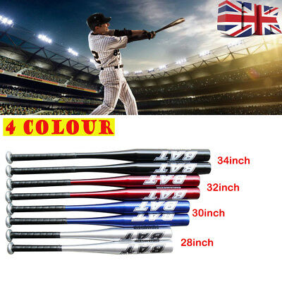 "Aluminium Baseball Bat Lightweight Full Size Youth Adult Metal 30""34"" Pole Stick"