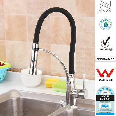 2018 Modern Luxury Kitchen Faucet Pull Out Spray Mixer Tap Black Swivel Bathroom