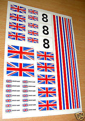 RC Union Jack flag stickers decal Mardave Kyosho Tamiya