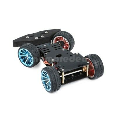 DIY 4WD RC Smart Car Metal Chassis Platform with S3003 Metal Servo&Bearing Kit