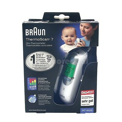 Braun ThermoScan 7 IRT 6520 Baby&Adult Professional Digital Ear Thermometer LCD