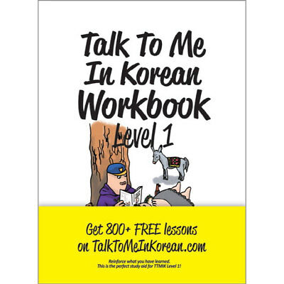 Talk To Me In Korean Workbook Level 1  Textbook for Hanguel learning Korean