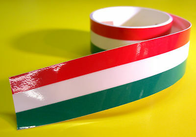 ITALIAN FLAG STRIPE TAPE sticker 1220x25mm 2 LENGTHS!