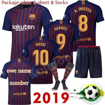 2019 Home Boy Soccer Boy Kid football Suit Jersey Kits Short Sleeves Outfits Set
