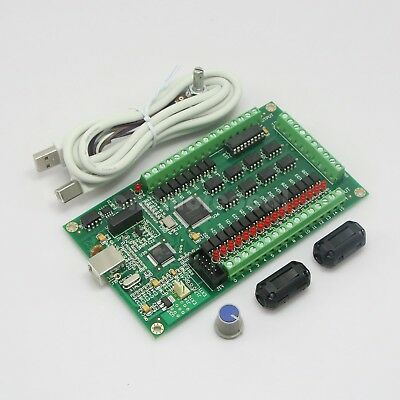 4 axis CNC USB Card Mach3 200KHz Breakout Board Interface Card for Routing Tool/
