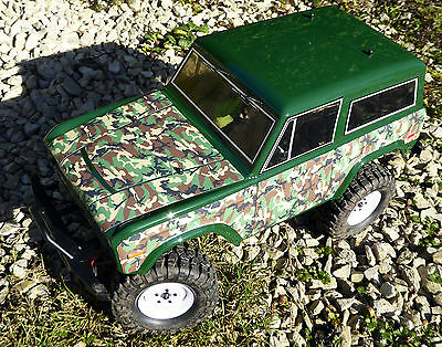RC Rock Crawler GREEN CAMOUFLAGE Stickers Decals fit FTX RGT HSP OUTBACK TREKA
