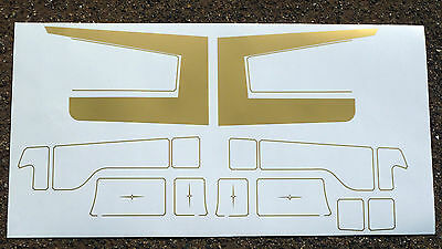 Tamiya Truck 1/14th scale SCANIA CAB 'Key Line' set stickers decals
