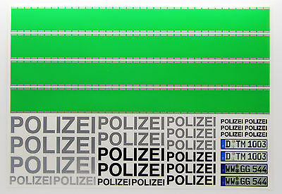 RC 'POLIZEI' German Police style Decals stickers green stripes Police Car Drift