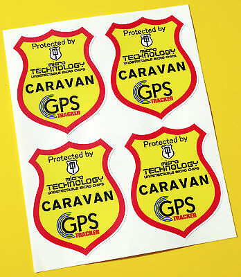 CARAVAN GPS TRACKER UNDETECTABLE CHIP FITTED anti theft SECURITY stickers decals