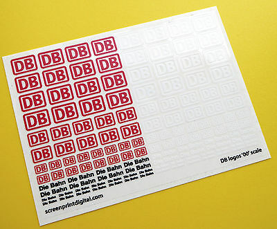 DB Die Bahn German Federal Railways Logo '00' Gauge scale stickers decals