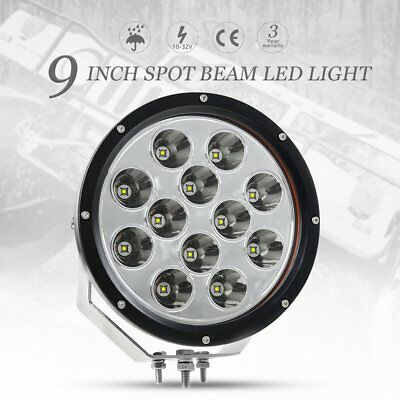 9 inch 120W CREE LED Work Light Spot Beam Driving Lamp Truck Offroad 4WD ATV