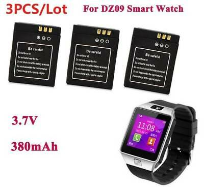 3x For DZ09 Smart Watch 380mAh Rechargeable Li-ion Polymer Battery Replacement