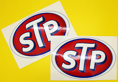 Classic Car Rally/Race STP sticker set x2 GLOSS LAMINATED