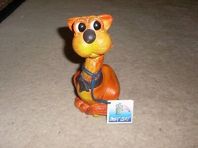 Crazy Clay Studios South Africa Beautiful Studio Pottery Ginger Cat Figurine