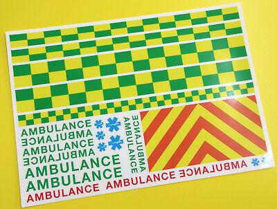 RC ROCK CRAWLING 'AMBULANCE' 10th scale Decals stickers HPI TRAXXAS TRX-4