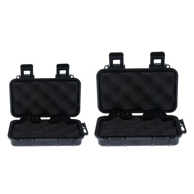 2pcs Outdoor Shockproof Airtight Waterproof Box Survival Tools Storage Case