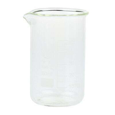 Tall Form Graduated Measuring Glass Beaker 50-1000ml with Spout Borosilicate