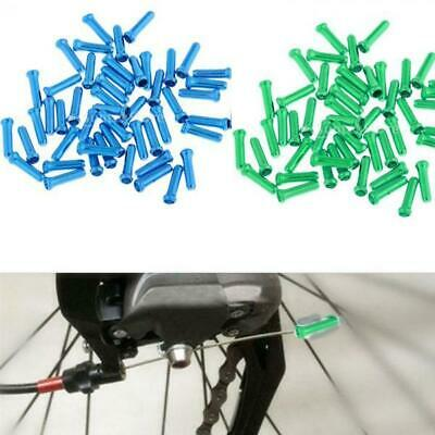 50pcs Durable Bike Cable End Crimps Bicycle Hose Wire Cap Cycle Shifter Tips