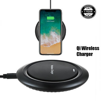 Black Qi Wireless Charger Charging Pad for Samsung Galaxy S5 Active SM-G870A