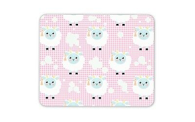 Cute Sheep Mouse Mat Pad - Pink Kids Girls Boys Farm Animal Gift Computer #13194