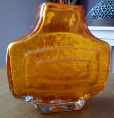 whitefriars concentric  tv vase tangerine colour Baxter/Powell & sons
