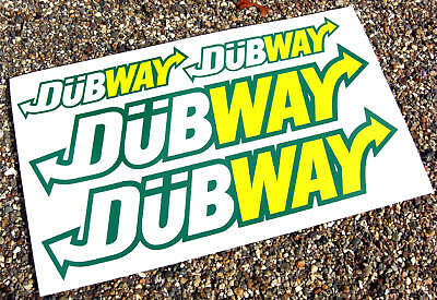VW 'DUBWAY' 4 stickers decals Golf Beetle Polo Camper VOLKSWAGEN GTI R32 Polo