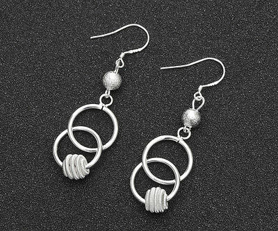 Wholesale 925 Silver Plated fashion jewelry solid silver women earring gift #6