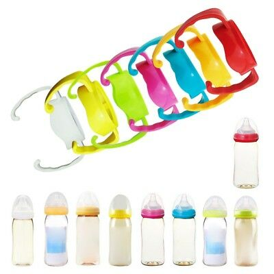 Generic Bottle Handles for Wide Neck Classic Plastic Feeding Baby Bottles AU