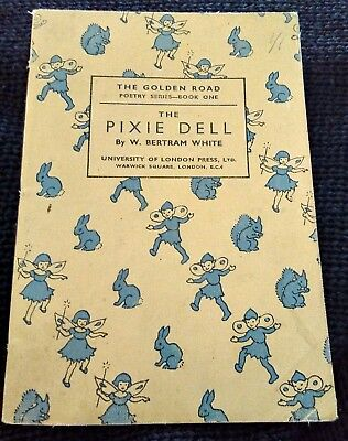 Vintage poetry book. The Pixie Dell
