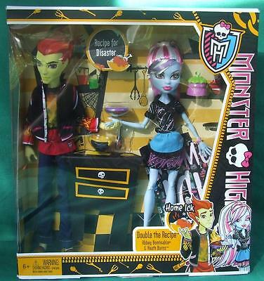 Monster High Doll Heath Burns~Abbey Bominable & Accessories (Brand New)