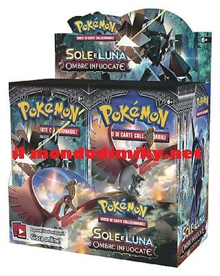 Pokemon Sole e Luna Sole e OMBRE INFUOCATE display 36 buste ITALIANO