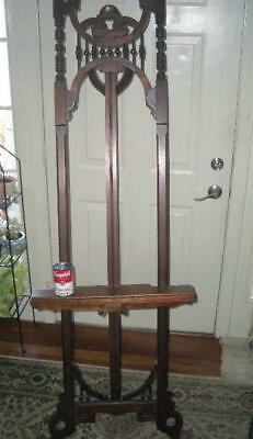 "Antique Artist Easel; stick ball Victorian;1800s LARGE 72""; maybe walnut adjusts"