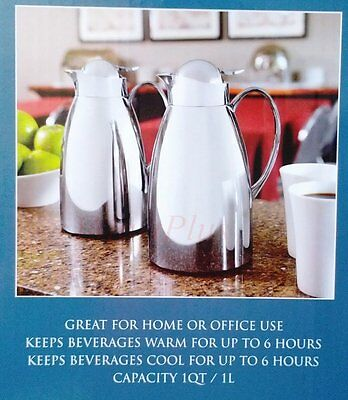 2x Thermal Carafe Bottle Flask Pot For Coffee Beverage Tea 6 Hours Cold/Warm 1