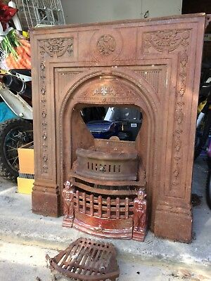 victorian fire place with dutch front panel