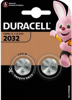 2 X Duracell CR2032 3V Lithium Button Battery Coin Cell DL/CR 2032 Long Expiry