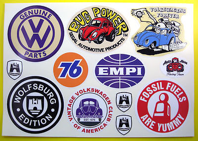 VW RETRO VINTAGE STICKER AUTOCOLLANT Set Alors Cal hot rat BARRE