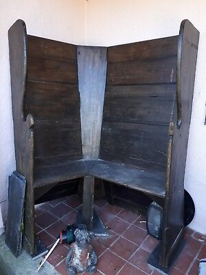 antique early 19th   monks corner bench.. few and far between. in great untouche