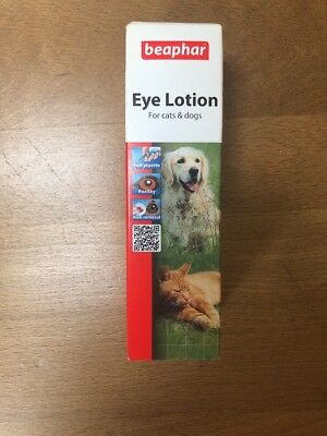 Beaphar Eye Lotion Cleans Soothes Irritation For Cats & Dogs Removes Tear Stains
