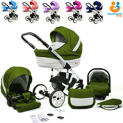 Baby Pram Newborn 3in1 Buggy Car Seat Pushchair Combi Travel System  Carrycot
