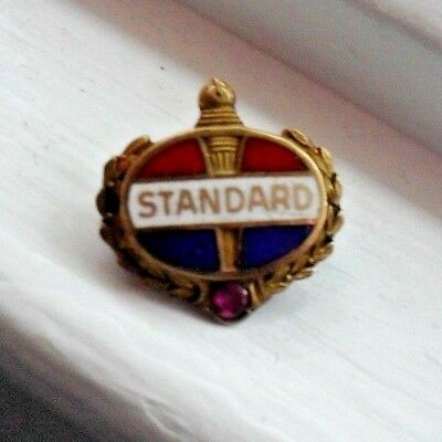 Standard Oil Employee 14K Gold Lapel Pin w/ Ruby chip--Vintage Amoco Collectible
