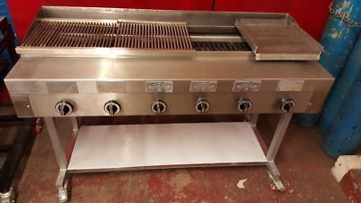 6 Burner Gas Charcoal Grill