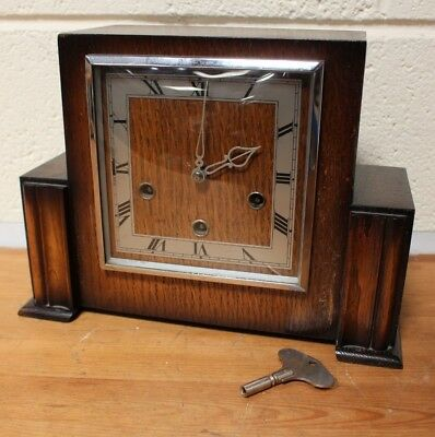 Vintage SMITHS ENFIELD 1950's Art Deco Style CHIMING Mantel Clock - 254