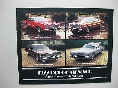 Dodge Monaco brochure Prospekt English language 1977 16 pages