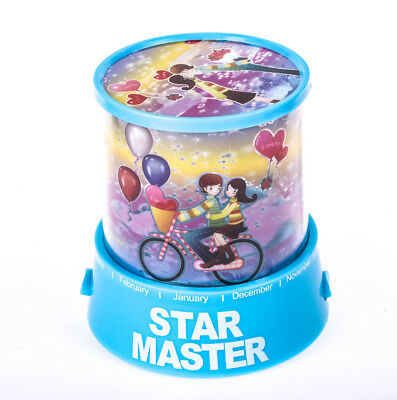 Romantic Sweet Lovers Auto LED Star Master Night Light Projector Lamp With Music